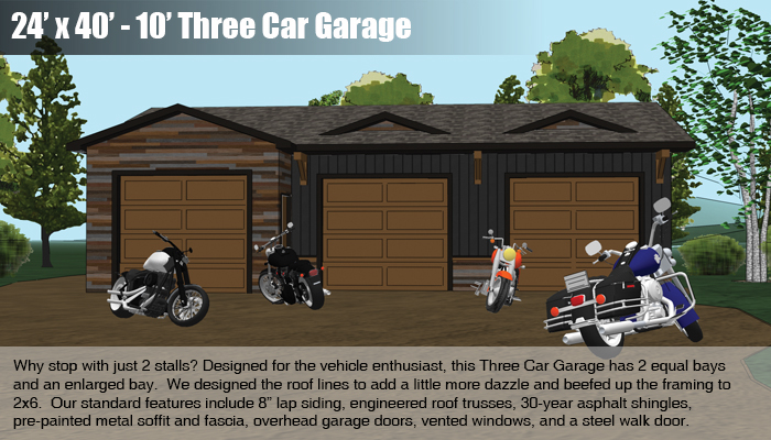 Garages mead lumber and knecht home center for 24x40 garage