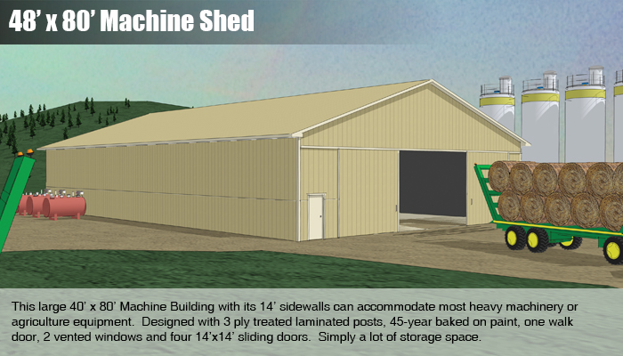 48x80 Machine Shed