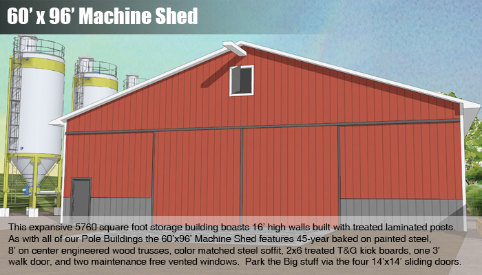 60x96 Machine Shed