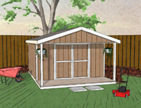 Gable Shed with Porch